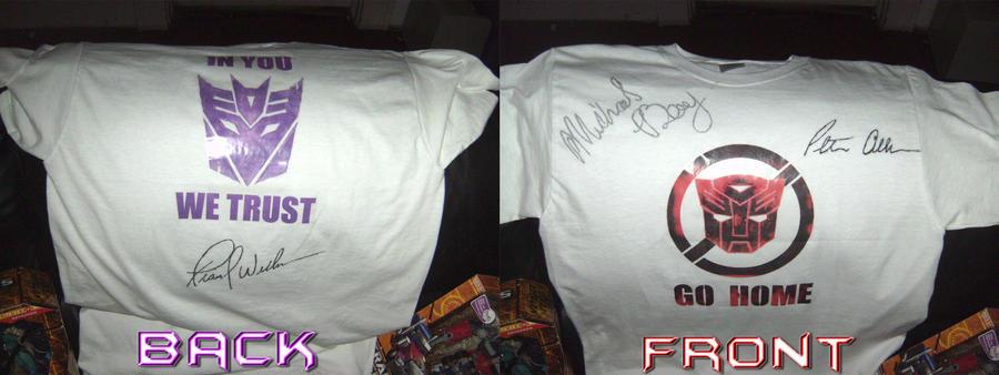 my Autographed T-Shirt by BDixonarts