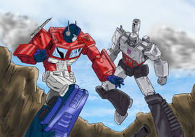 Optimus VS Megatron by BDixonarts