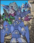 G1 Decepticon group poster colors