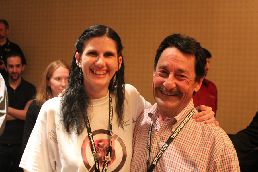 Me and Peter Cullen by BDixonarts