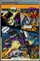 G1 Dinobots vs Trypticon comic page by BDixonarts