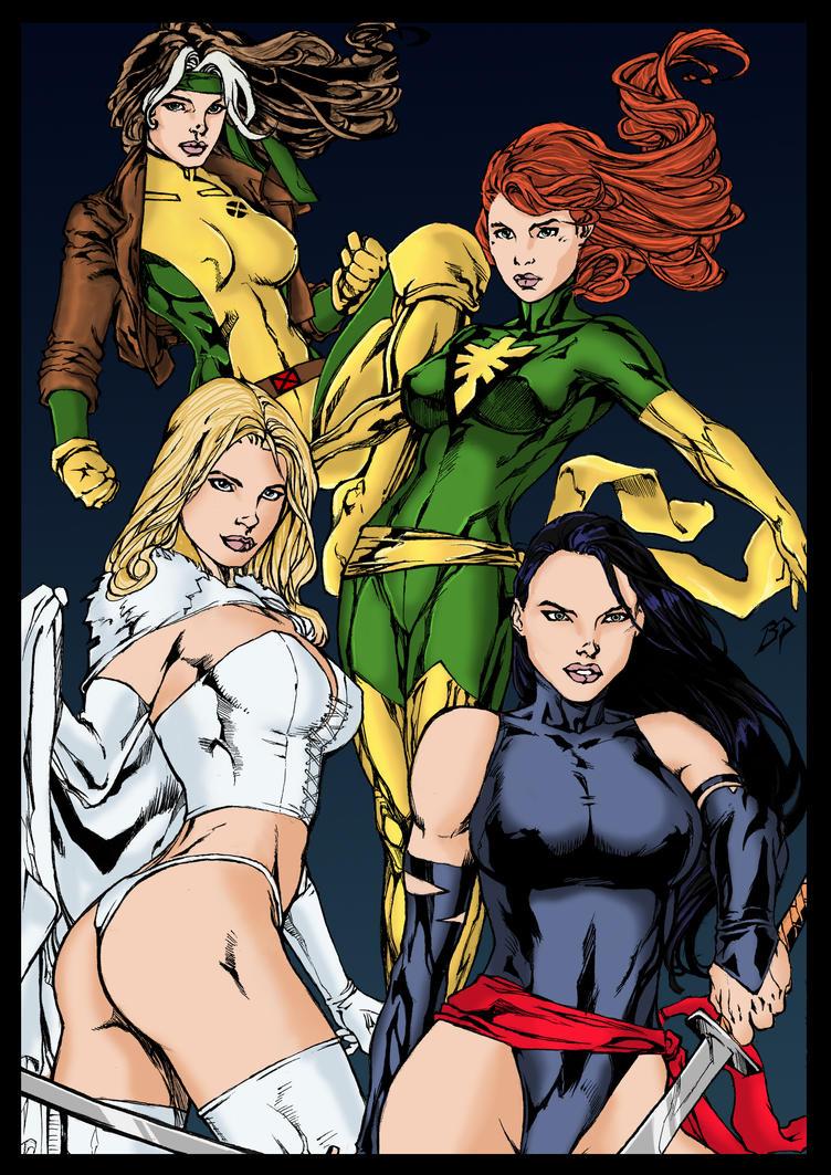 Marvel Chicks colors by BDixonarts