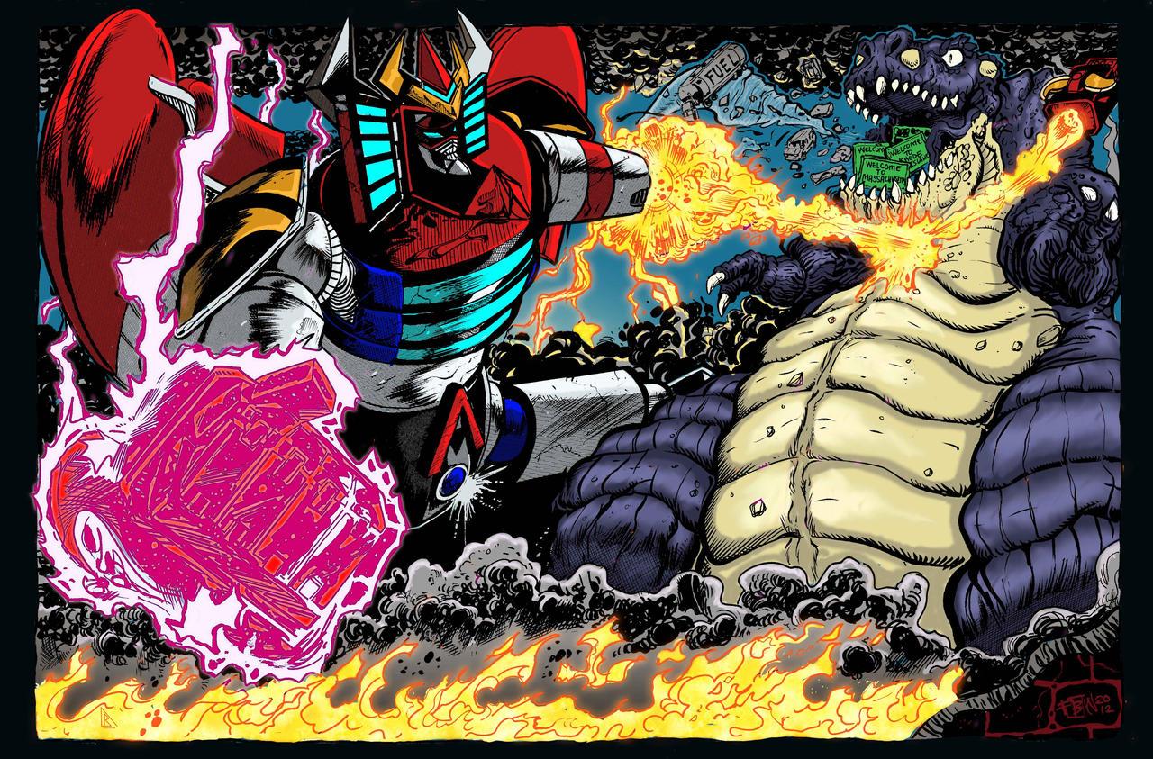 RGA vs Macrosaurus colors by BDixonarts