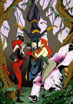 Batgirl, Poison Ivy and Harley colors low