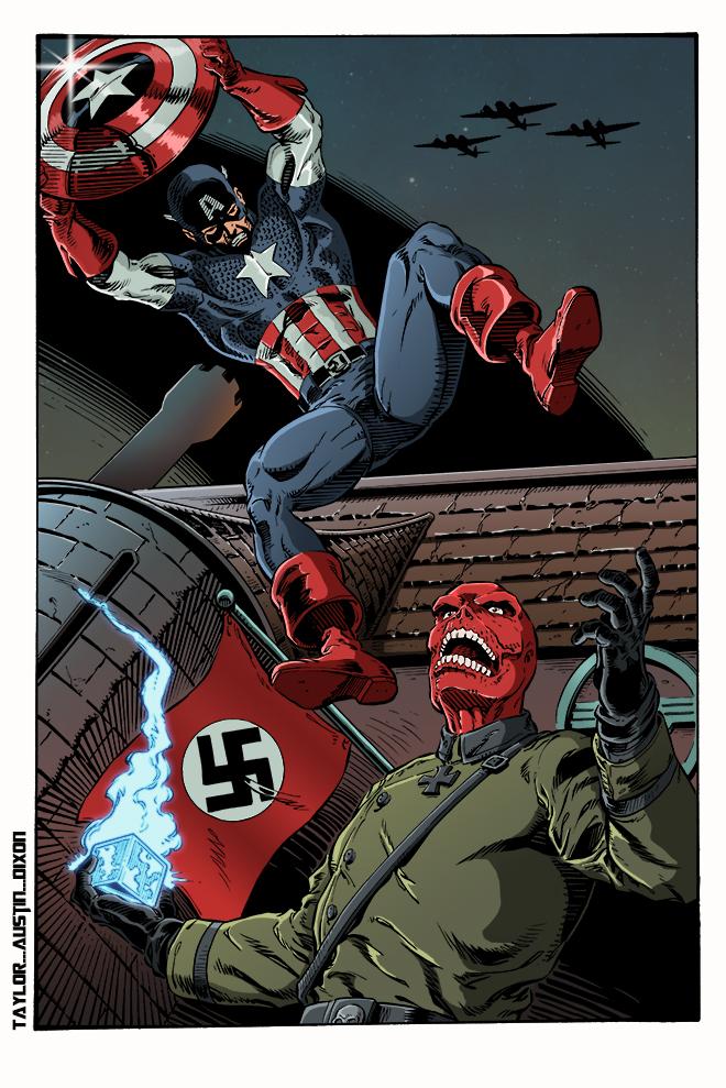 Captain America vs Red Skull colors