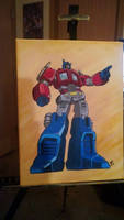 G1 Optimus Prime Painting by BDixonarts