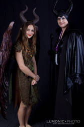 my maleficient and a younger version with me by BDixonarts