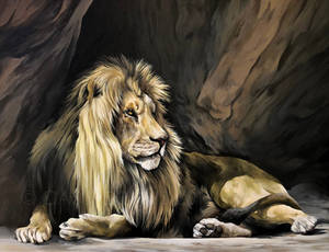 Winston the Lion. (Acrylic)