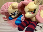 Flutterbat and Fluttershy With New Socks!