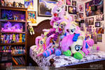 Fluttershy Plushie Mountain (As of Spring 2020)