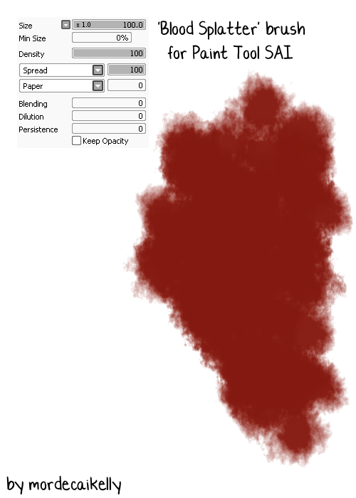 How To Draw Blood Splatter In Paint Tool Sai