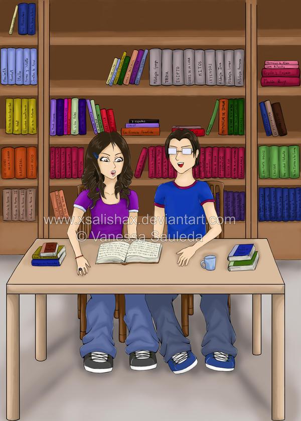 Dibujos By Salisha Commission__Biblioteca_by_xSalishax