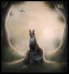 Fox by MoaWallin