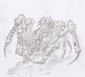 Tywilla's Brother vs. Arachnid Biomechabeast by GriswaldTerrastone