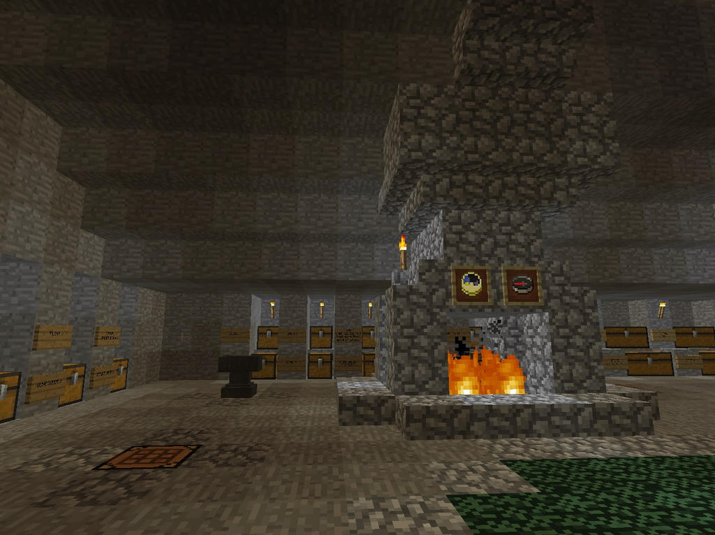 Crafting Area and Storage Library by MrWootton
