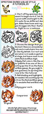 Pokemon Red and Blue Sprite Style Tutorial