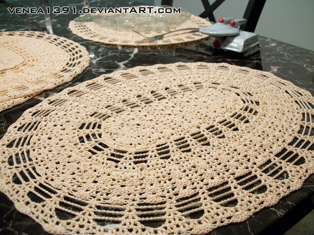 Crochet Pattern For Oval Placemat : Crochet - Lacy Oval Placemats by venea1391 on DeviantArt