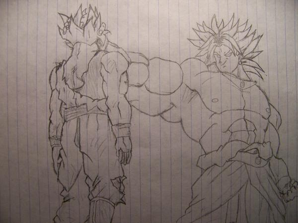 Broly Vs Goku By Vegetassj51 On DeviantArt
