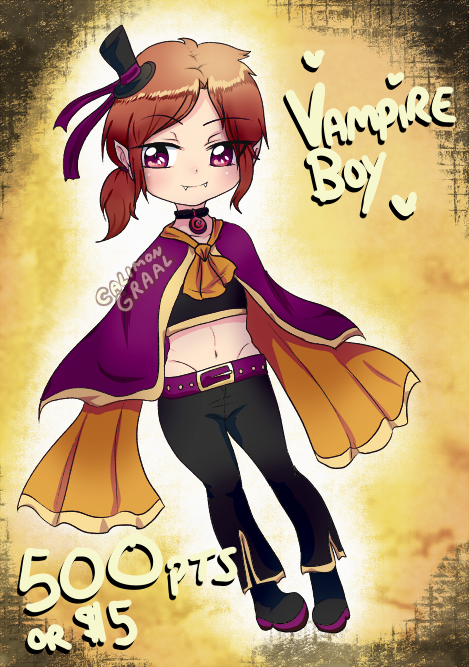 Halloween adoptable - Vampire boy [CLOSED] by CalimonGraal