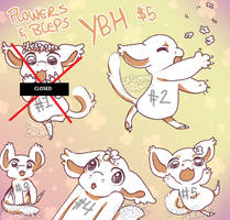 GRIFFIAN Flowers and Bleps YCH - $5 [4/5 OPEN]