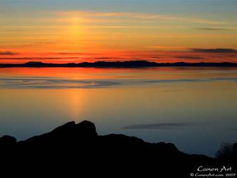 Island sunset by CanenArt