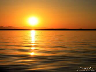 Fishing Sunset by CanenArt