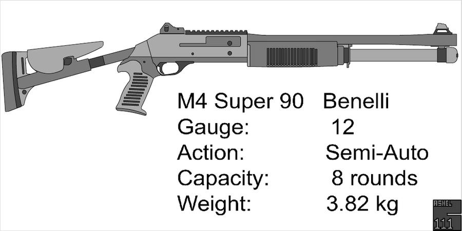 benelli m4 super 90 by cashel111 on deviantart