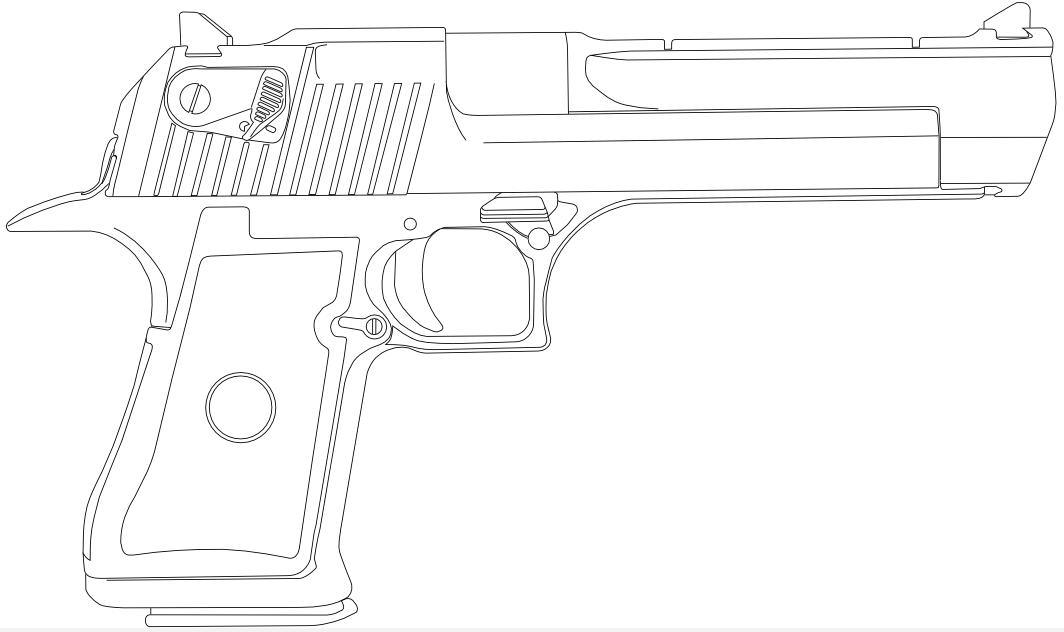 Line Art Gun : Imi desert eagle by cashel on deviantart