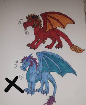 Male dragon adoptables ice dragon