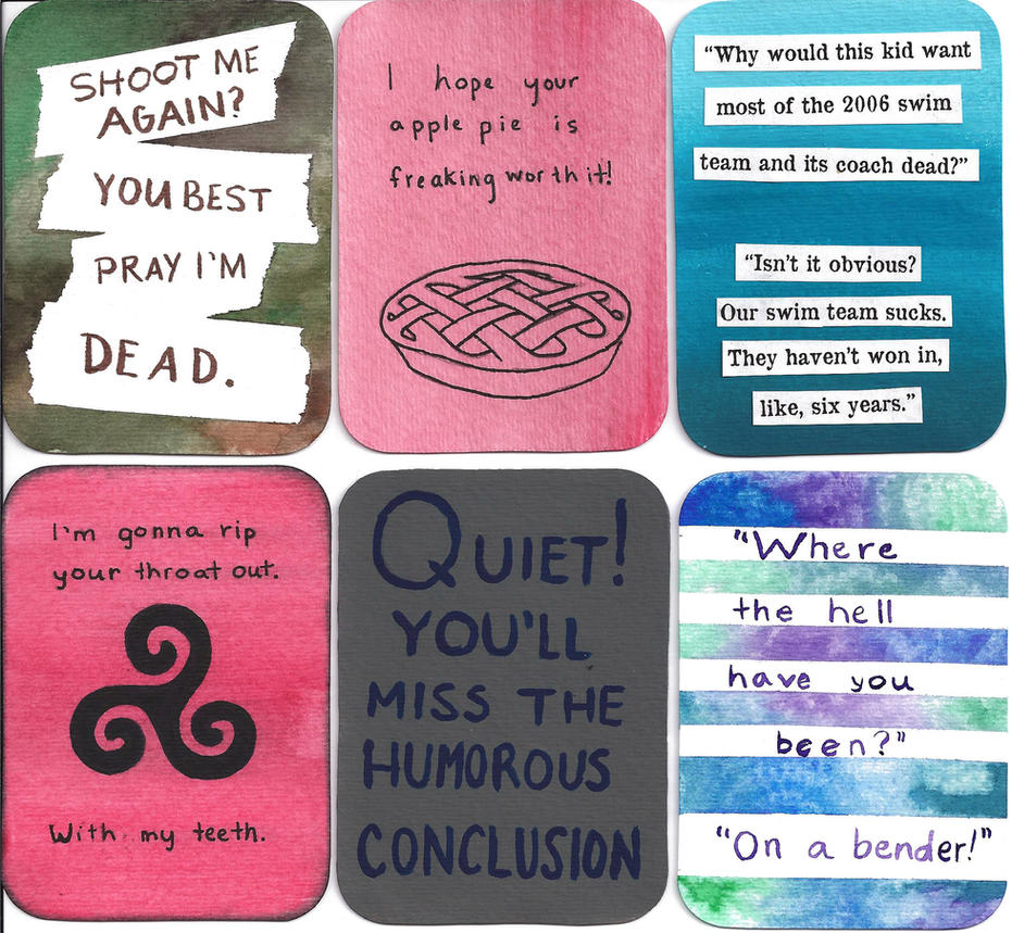 quotes - artist trading cards by blanknametag
