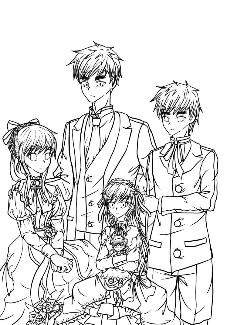 Lineart: Kirkland Family Portrait by BlueStorm-Studio on ...