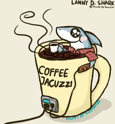 Lanny D. Shark and Coffee Jacuzzi by BlueStorm-Studio
