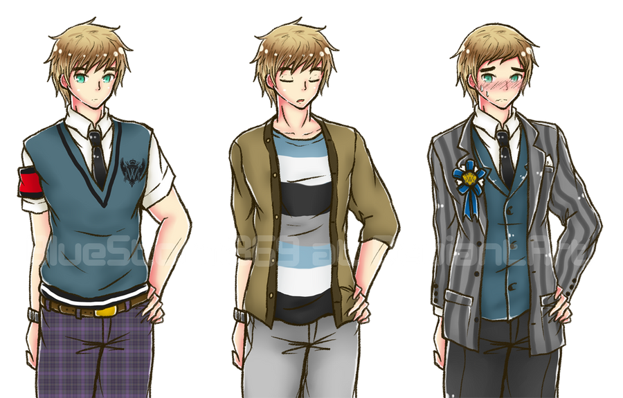 VN Sprites: dorky goody two-shoes by BlueStorm-Studio