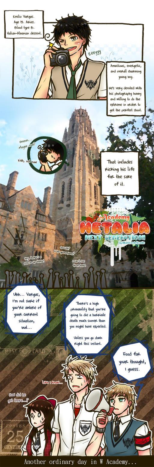 HetaNEXT Comic: W Academy Days 1 by BlueStorm-Studio