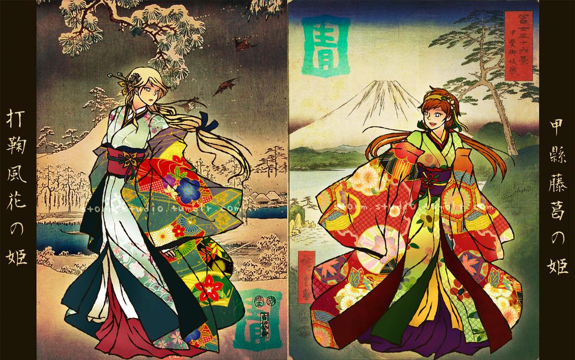 Edo-jidai AU: SHIGURE by BlueStorm-Studio