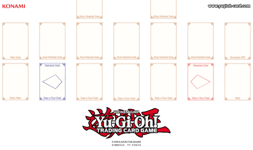 Yu gi oh playmat png master rule 4 link format by for Yugioh mat template