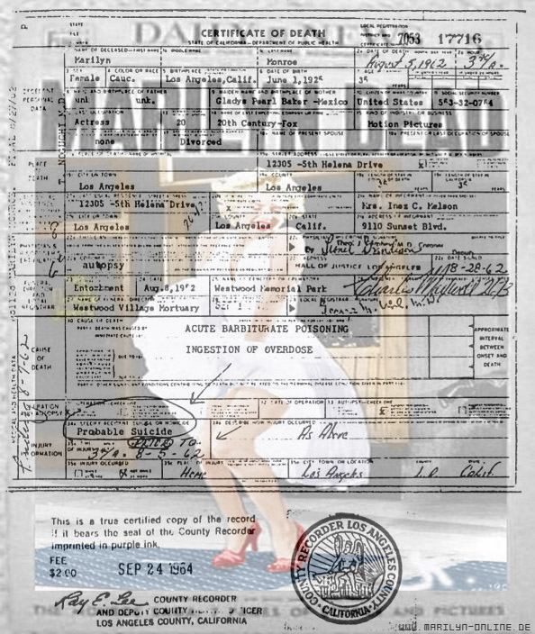 Marilyn Monroe's Death  by redstainedeyes-- on DeviantArt
