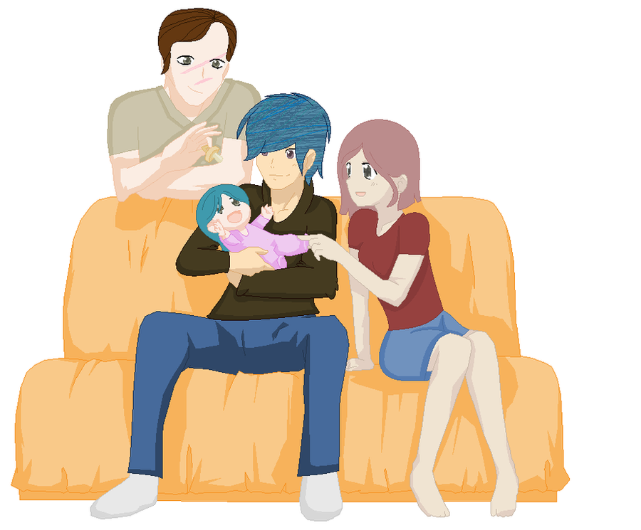 Remus Lupin and Nymphadora Tonks' Family by K3Elliebear
