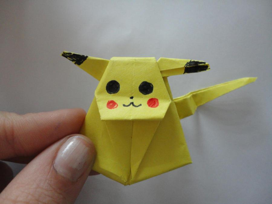 すべての折り紙 折り紙 ピカチュウ 折り方 : Origami Pikachu