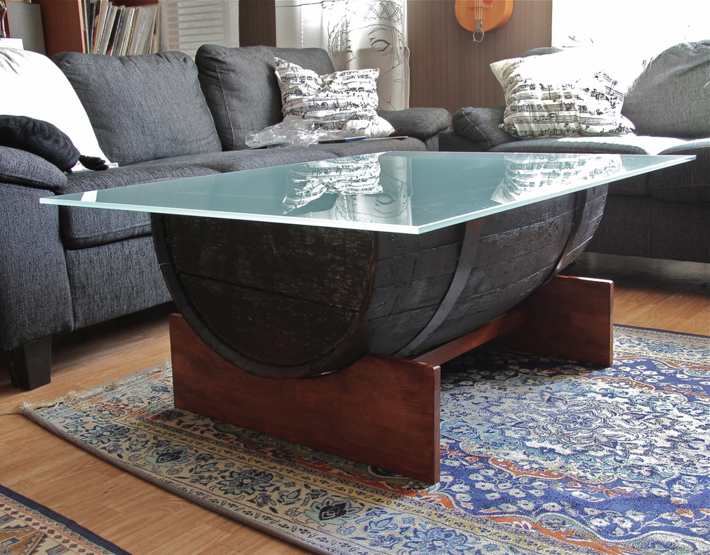 the barrel coffee table by visualscream on deviantart
