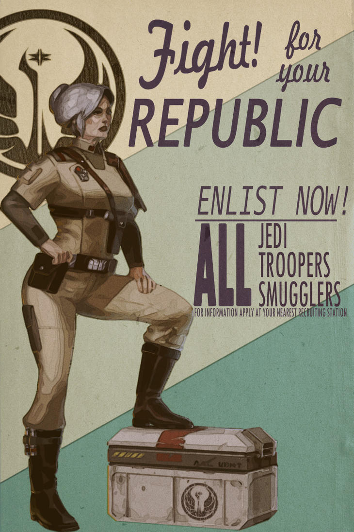 Vintage Old Republic Recruitment Poster by Sherbertine