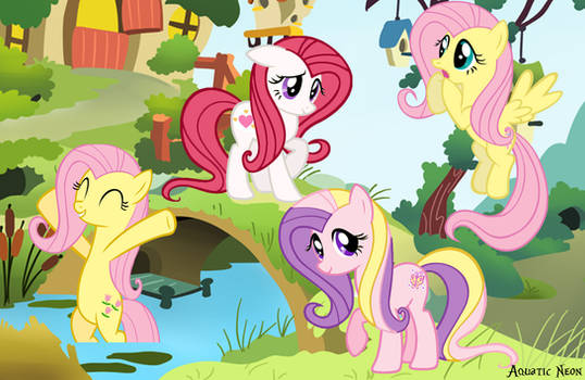 Fluttershy Generations by AquaticNeon
