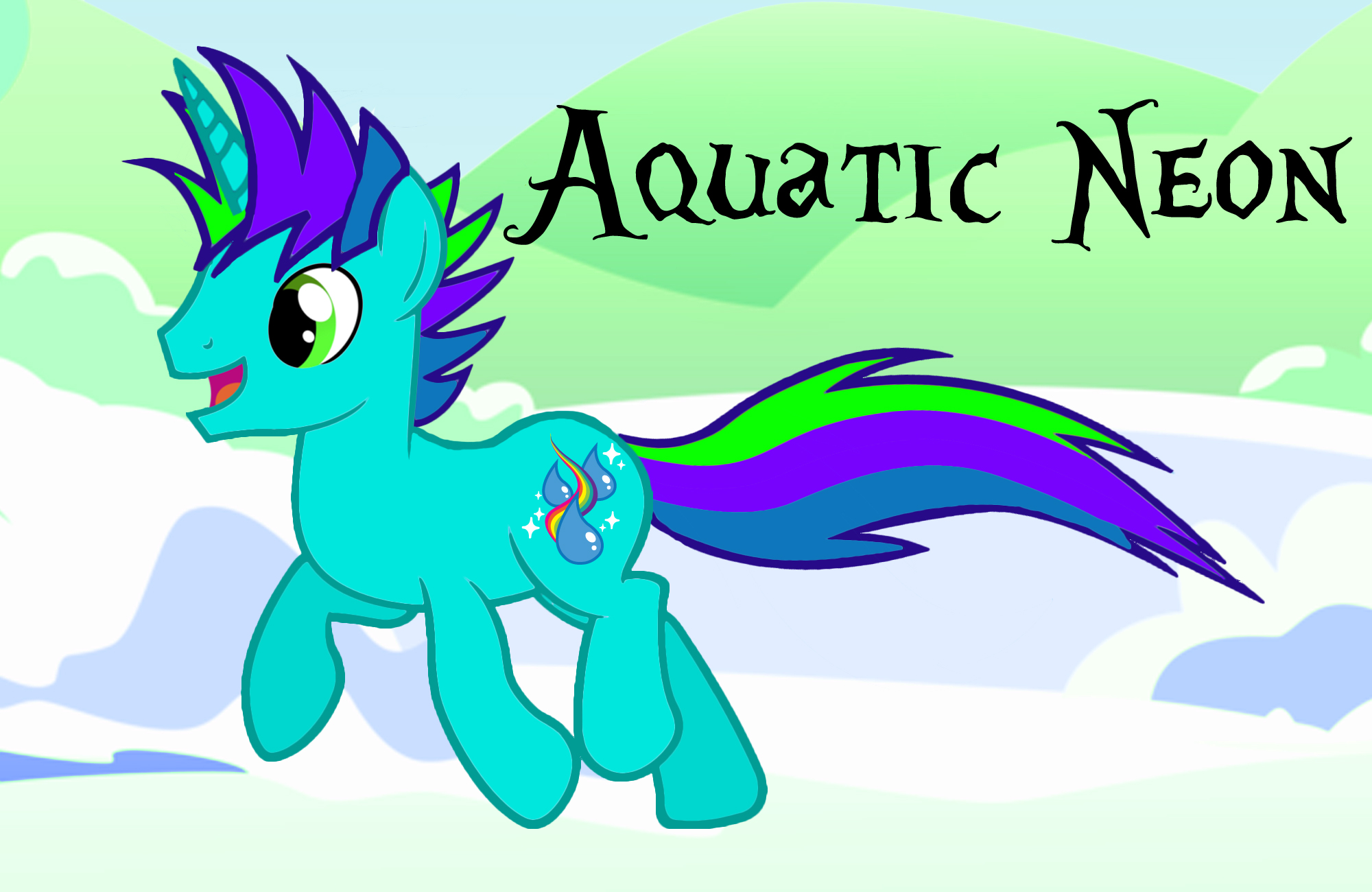 My OC: Aquatic Neon by AquaticNeon
