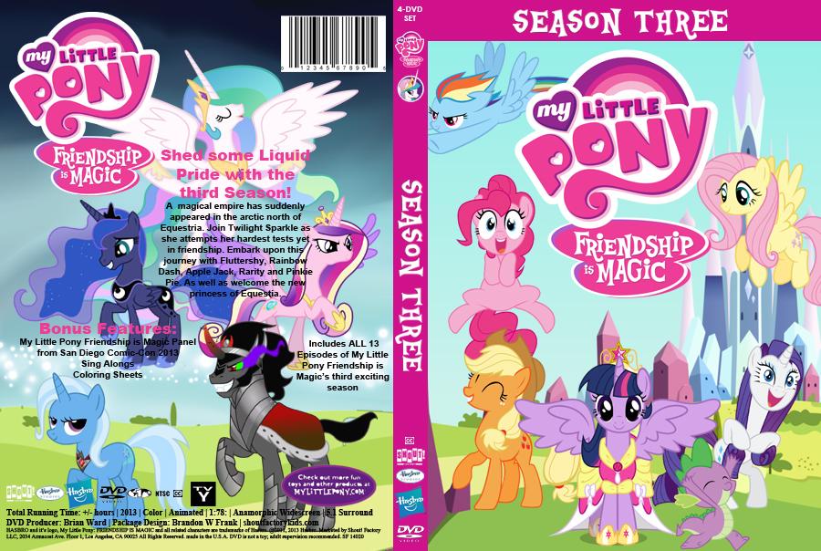 My Little Pony Friendship Is Magic Season 3 DVD By