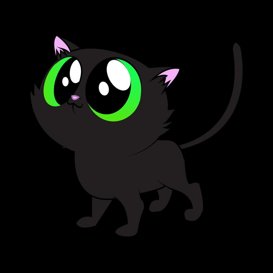 black cat vector by aquaticneon on deviantart rh deviantart com cat vector free download cat vector art