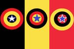 stylised democratic belgium flag