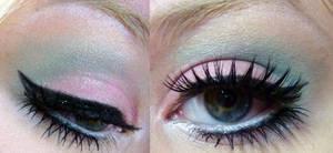 Pink and Mint makeup