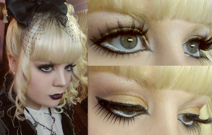 Gothic Gold Glitter by VanillaBlitz
