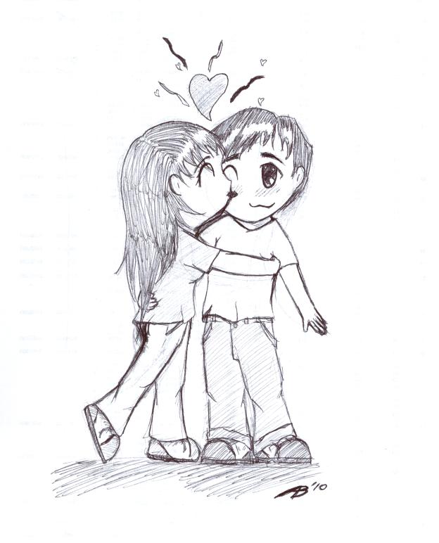 anime drawings of love