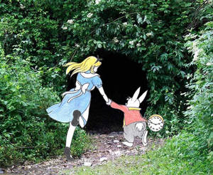 'Come with me Alice,to Wonderland!'